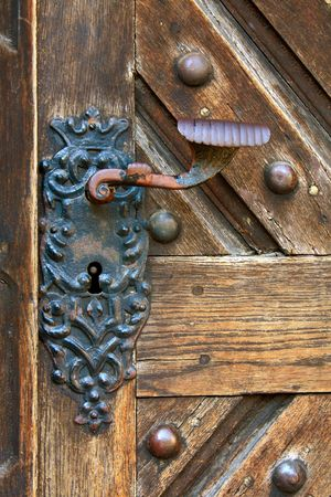 door knob: old doors Stock Photo