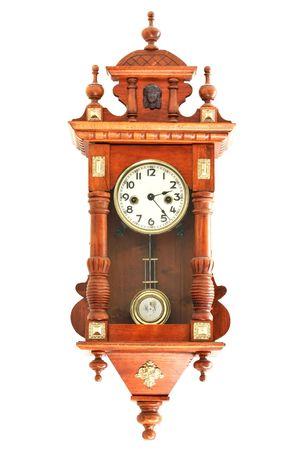 alte h�lzerne Uhren Lizenzfreie Bilder