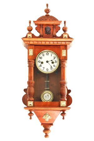 vintage furniture: old wooden clocks