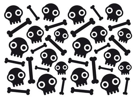 skulls and bones Illustration