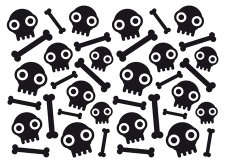 skulls and bones Ilustrace