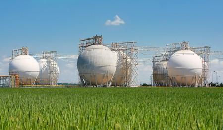 Raffinerie Stauseen  Lizenzfreie Bilder