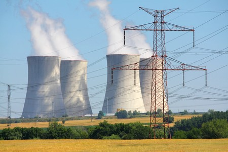 electric power station: nuclear power plant Stock Photo