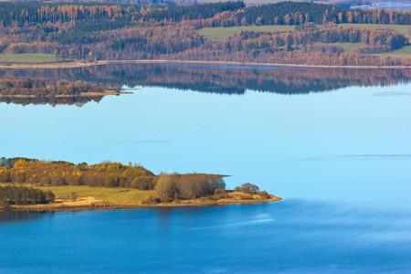 lipno: Autumnal lake, Lipno, Czech Republic