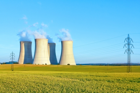 nuclear energy: nuclear power plant Stock Photo