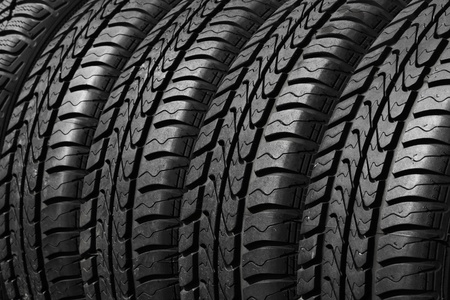 close view of rubber car tires photo