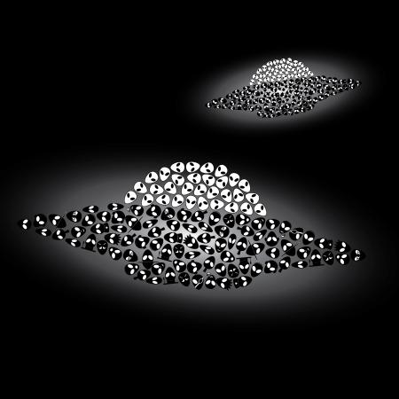 stranger: two ufo - alien spaceships Illustration