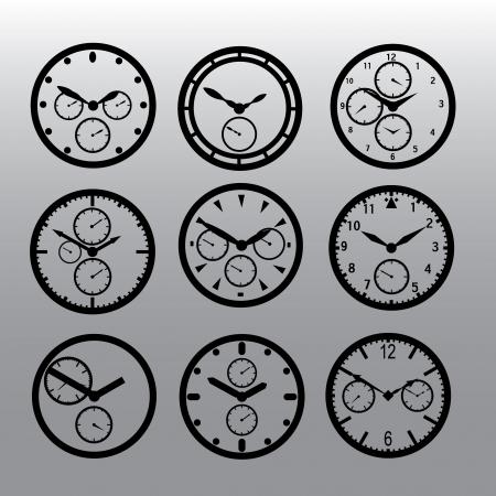 cron�grafo: esferas de los relojes del cron�grafo