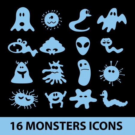 monsters icon collection  Vector