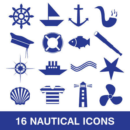 nautical icon collection  Vector