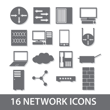network icon collection  Illustration