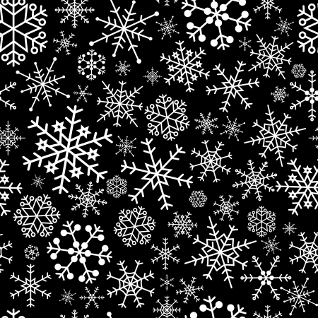 snowwlakes black pattern  Vector