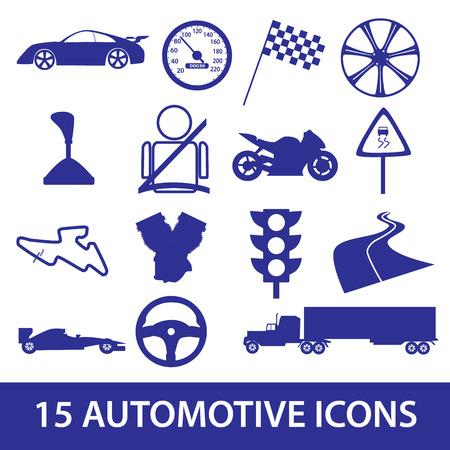 speeder: automotive icon collection eps10