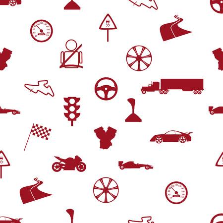 speeder: automotive icon pattern eps10