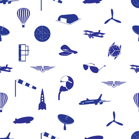 aeronautical icons pattern eps10 Vector