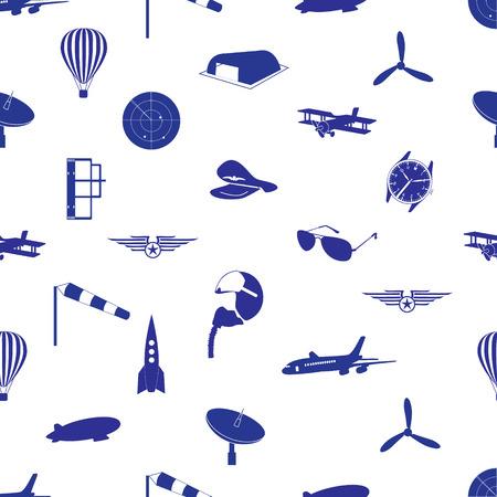aeronautical: aeronautical icons pattern eps10 Illustration
