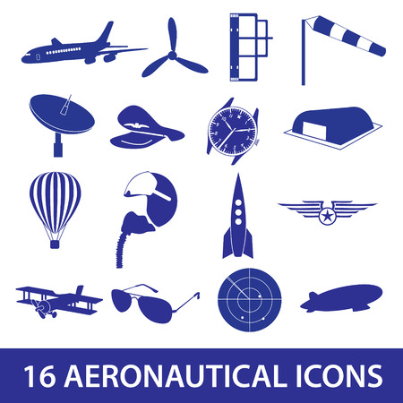 aeronautical: aeronautical icons set eps10 Illustration