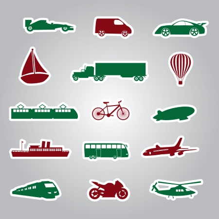 means of transport icon stickers