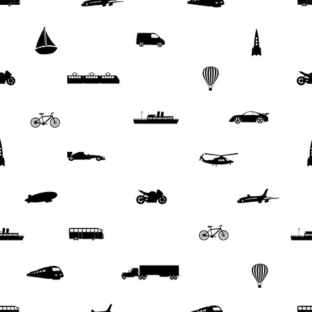 means of transport pattern  Vector