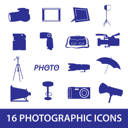 bar stool: photographic icon set  Illustration