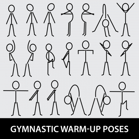 excercise: gymnastic warm-up poses