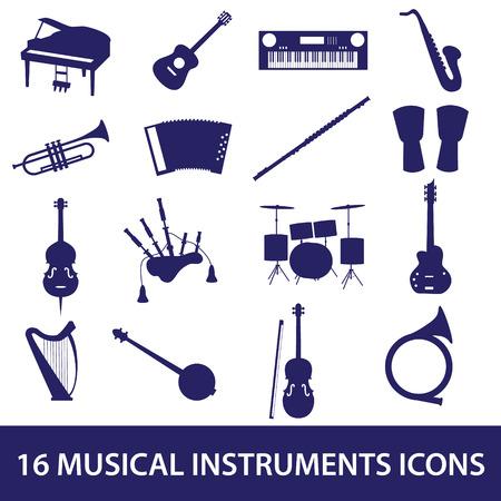gaita: instrumentos musicales conjunto de iconos
