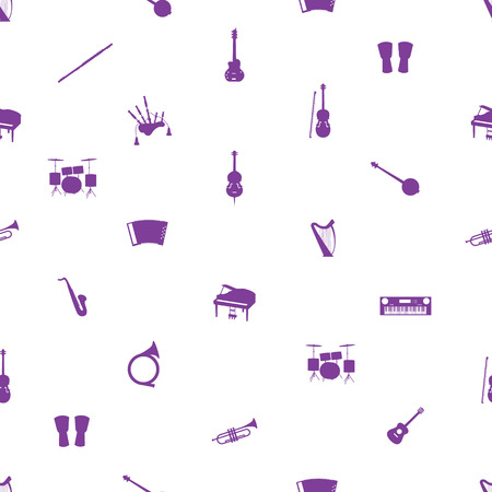 musical instruments pattern Vector