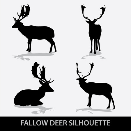 fallow deer silhouette icons