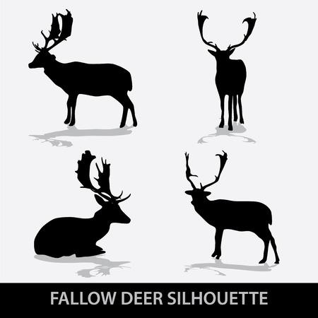 fallow deer: fallow deer silhouette icons