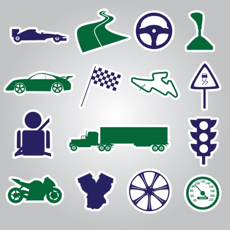 automotive stickers collection  Vector
