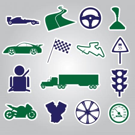 speeder: automotive stickers collection  Illustration
