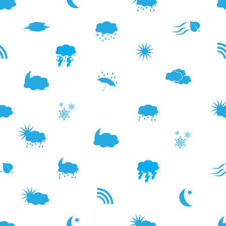 weather icons pattern Vector