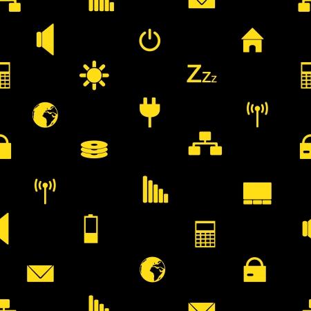 indication: laptop and pc indication icons pattern Illustration