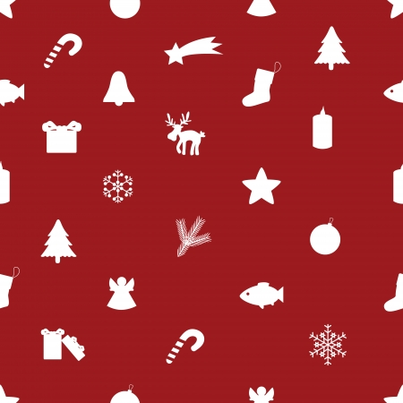 Christmas icon pattern  Vector