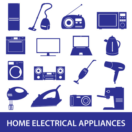 electrical: home electrical appliances set eps10 Illustration