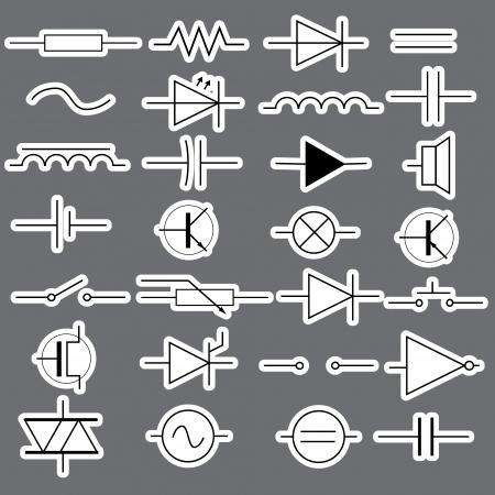 전기 공학 스티커 EPS10에서 스키 매틱 기호