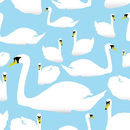 watter: swan on the watter pattern eps10 Illustration