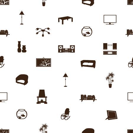 living room pattern eps10 Vector