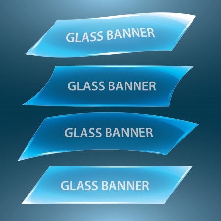 glass banners eps10 Vector