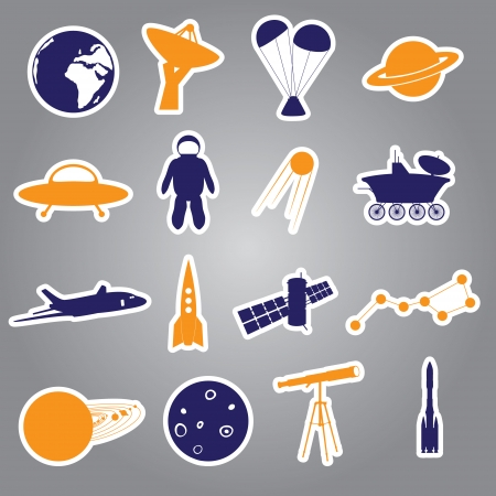 space stickers set eps10 Vector