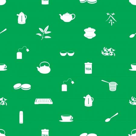 tearoom: tea icons pattern eps10