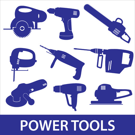 power tools icon set eps10 Vector