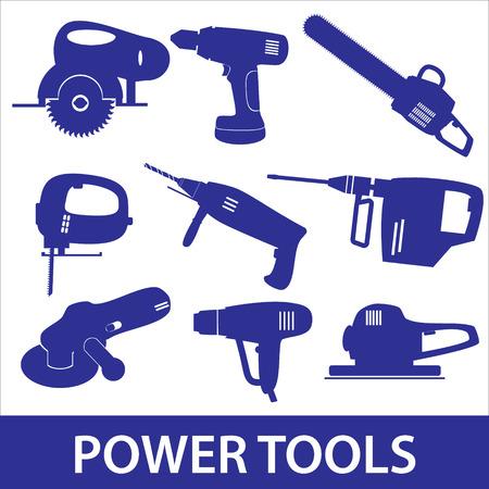 sander: power tools icon set eps10
