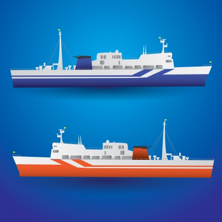 ferry: vector ferry ship eps10 Illustration