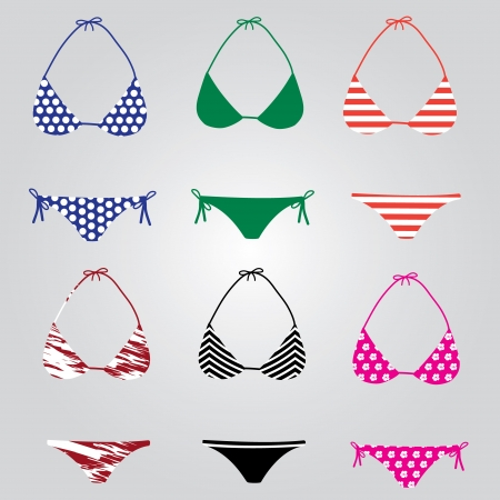 bikini: bikini swimsuit collection eps10