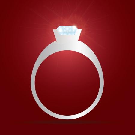 bague de fiancaille: bague de fian�ailles de diamant eps10 Illustration