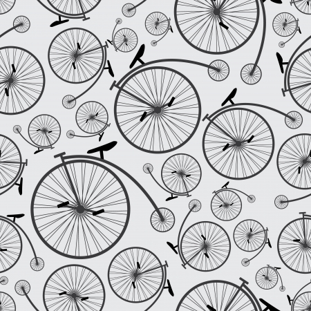 bicycle historic pattern eps10 Vector