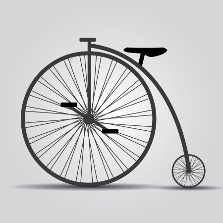 bicycle historic eps10 Vector