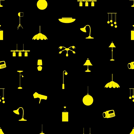 lighting icons pattern eps10 Vector