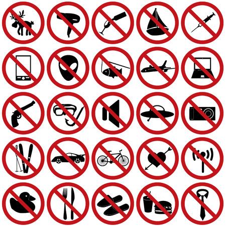 skying: restriction sign set eps10